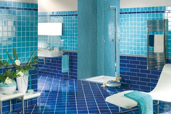 Blue Bathroom Ideas Gratifying You Who Love Blue Color: Amazing Bathrooms With Mosaic Tiles