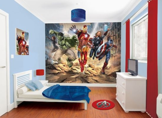 Cool Avengers wallpaper mural for kid's bedroom