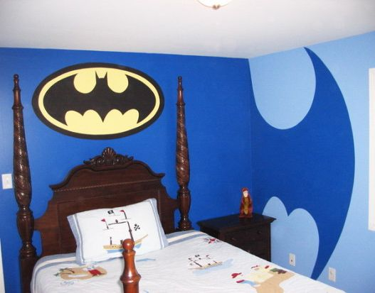 Creative Batman themed wall murals for kids