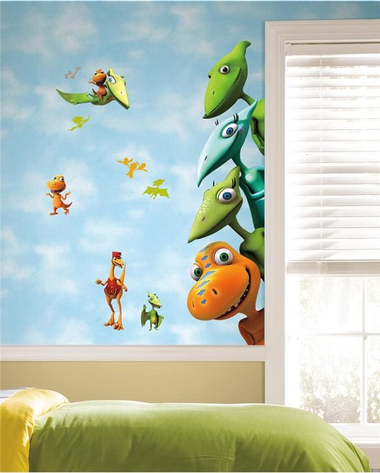 Gorgeous Dinosaurs themed wallpaper murals for kid's room