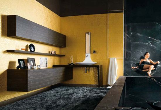 Modern yellow bathroom design ideas