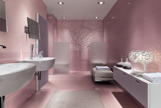 Amazing bathrooms with mosaic tiles ultimate home ideas - Pink tile bathroom decorating ideas ...