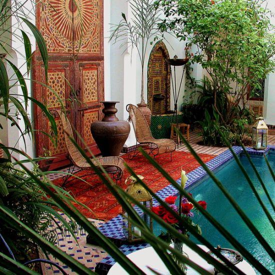 Stunning Moroccan courtyard design