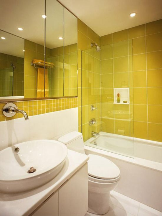 18 cool yellow bathroom designs ultimate home ideas for Bathroom ideas yellow tile
