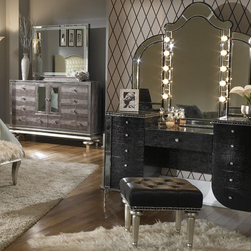 14 swanky vanities for bedroom with mirror and bench