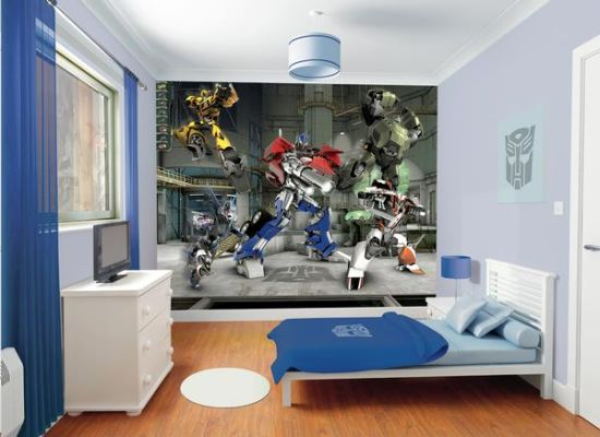 Transformers inspired wall mural for kid's room