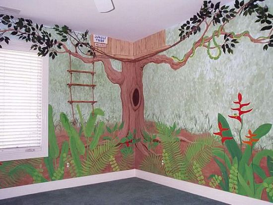 Tree House wall murals for kid's room