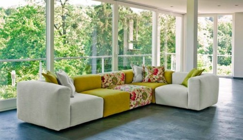Alluring L shaped living room seating idea