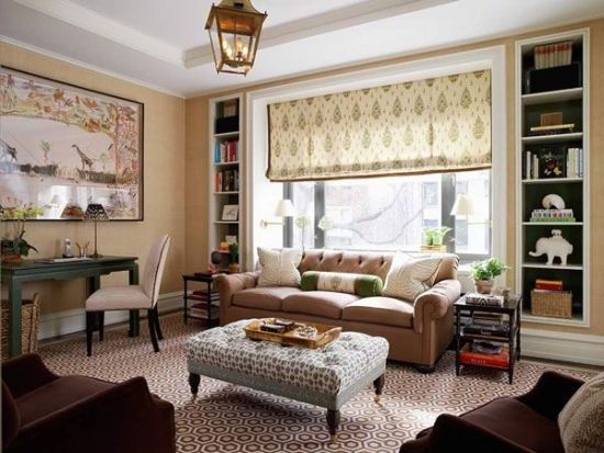 Awesome small living room with patterns