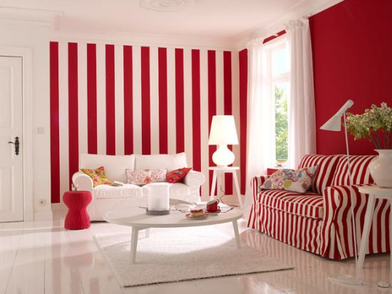 Top 15 Living Rooms With Striped Walls | Ultimate Home Ideas