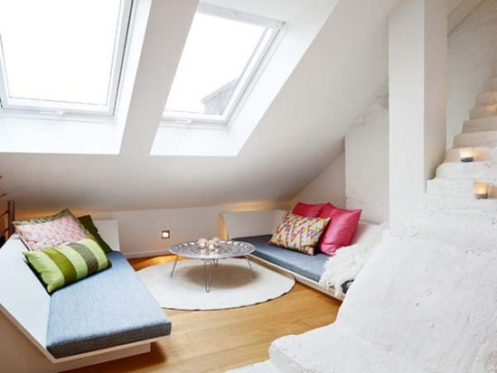 Bright small apartment with skylight