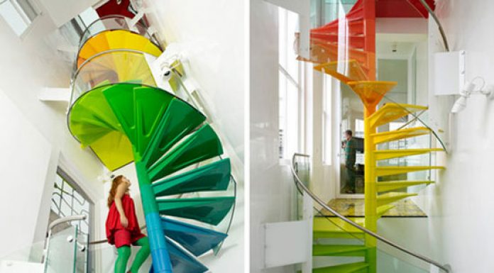Creative staircase painting