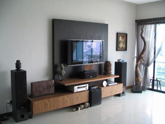 Wall mount tv ideas for living room ultimate home ideas - Designs of tv cabinets in living room ...