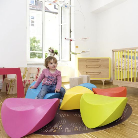 Cute playroom design ideas with hut hut chairs