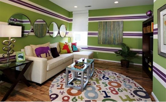 striped wall accent