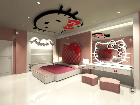 Superb Hello Kitty Bedroom