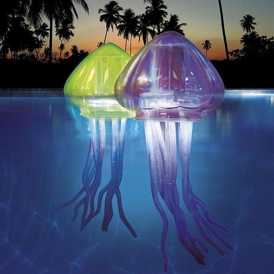 Floating LED jellyfish lights