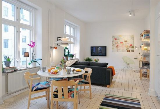 Inviting apartment interior with well planned furniture
