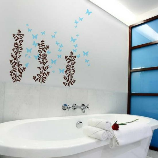 15 unique bathroom wall decor ideas ultimate home ideas - Stickers faience salle de bain ...
