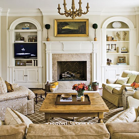 18 inspirational fireplace decor ideas ultimate home ideas for Living room furniture arrangement with fireplace