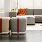 Modern seating arrangements with Sake pouf