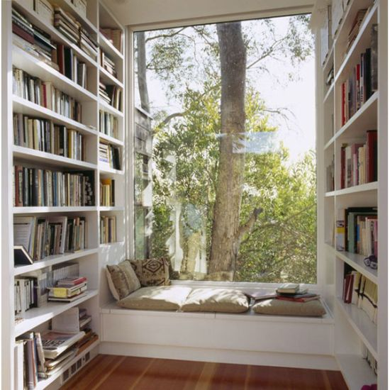 Decorating Small Homes: 40 Cool Home Library Ideas