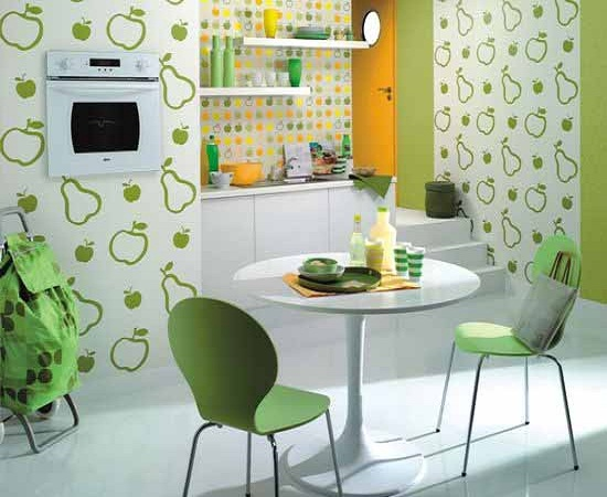 18 creative kitchen wallpaper ideas ultimate home ideas for Wallpapered kitchen ideas