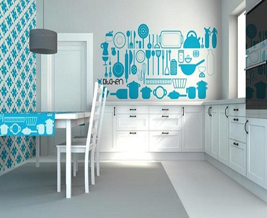 Kitchen wallpaper home design for Modern kitchen wallpaper ideas