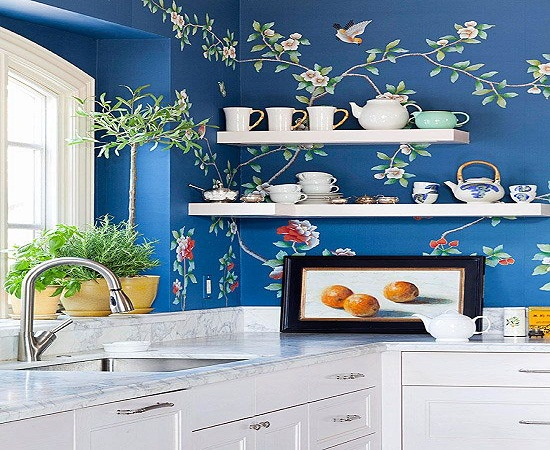 Decorate with Kitchen Wall Paper: Environments that will Inspire You