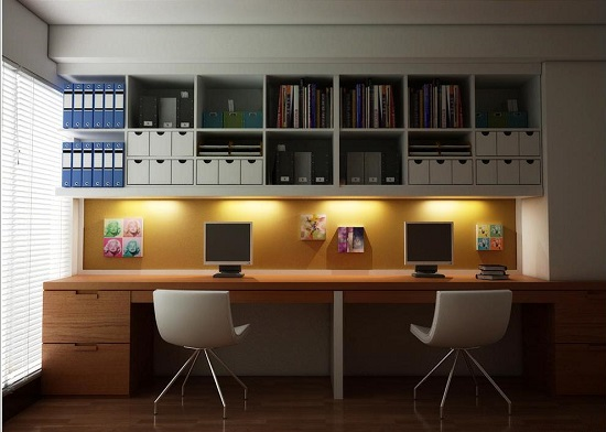 The modern office for two