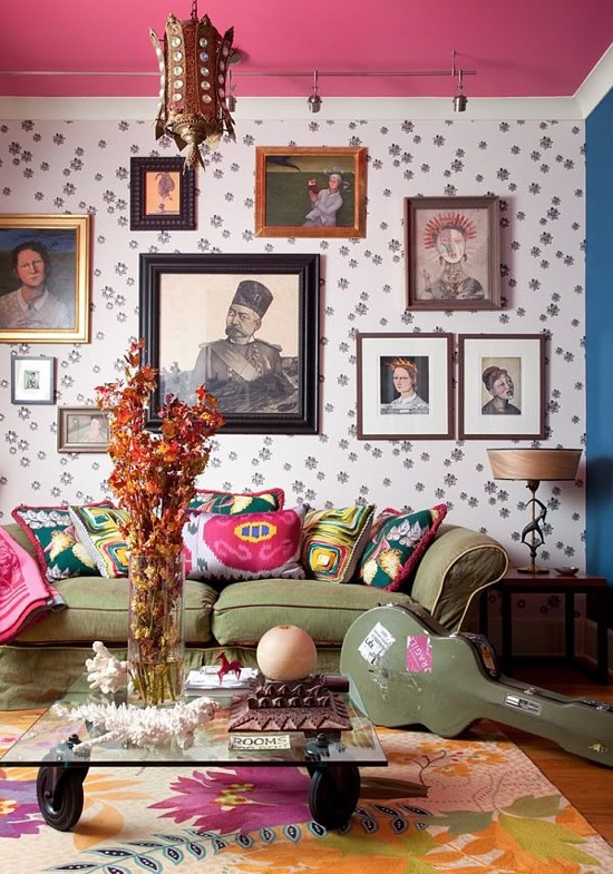 The vintage bohemian wall