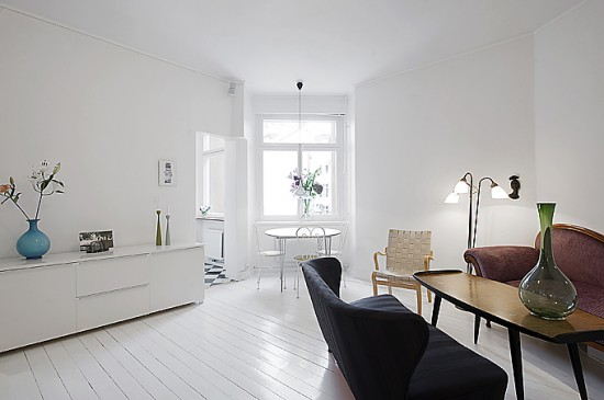 Trendy small apartment with chic accessories