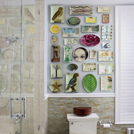 15 unique bathroom wall decor ideas ultimate home ideas for Unique wall art