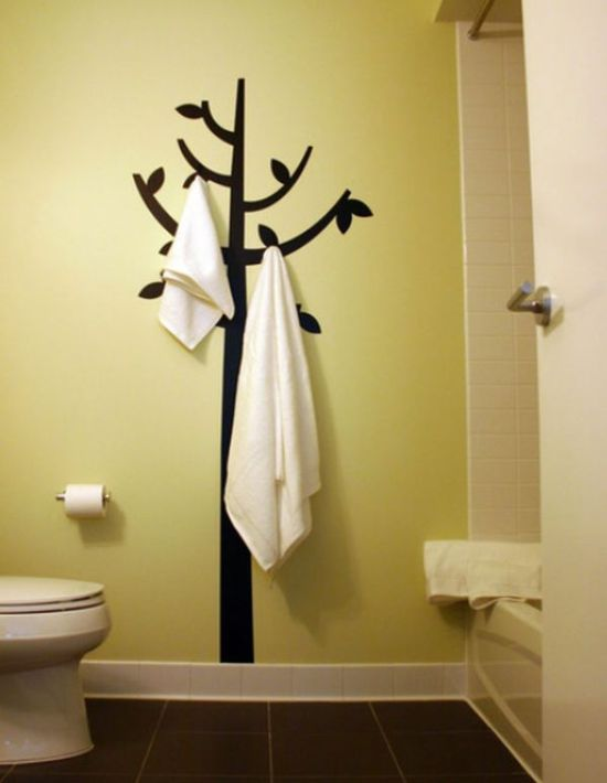 Unique Tree Wall Decal For Bathroom Wall