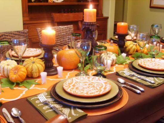 Dining table centerpiece ideas ultimate home ideas How to decorate your house for thanksgiving
