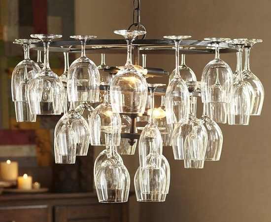 Living Room Lighting. Image Credit: Houzz. 10. DIY Rope Lights Chandelier