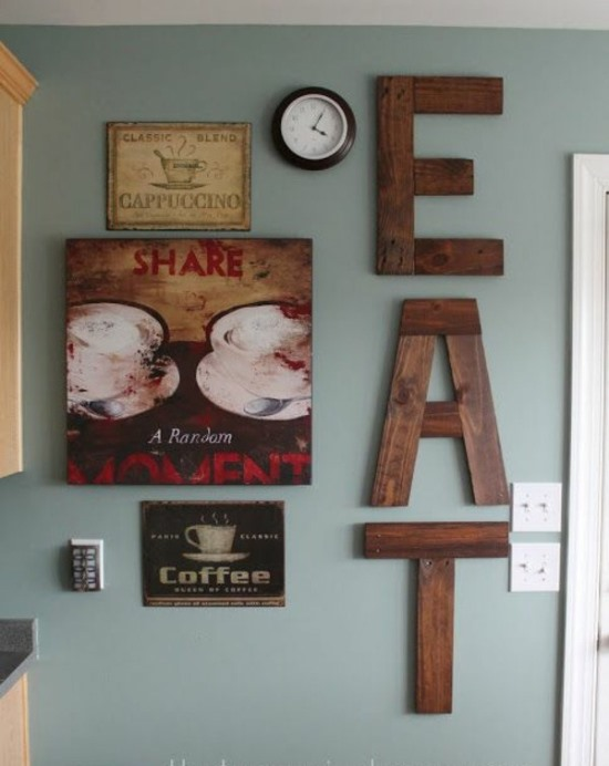 18 diy wall decor ideas for attractive home - Wood letter wall decor ...
