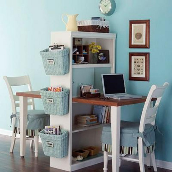 cute home office for couples