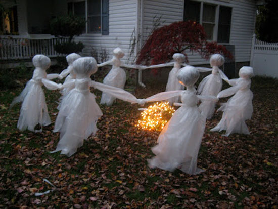 Ghost Bonfire Halloween Decoration