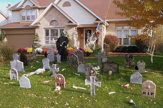 Graveyard Theme Halloween Decorations