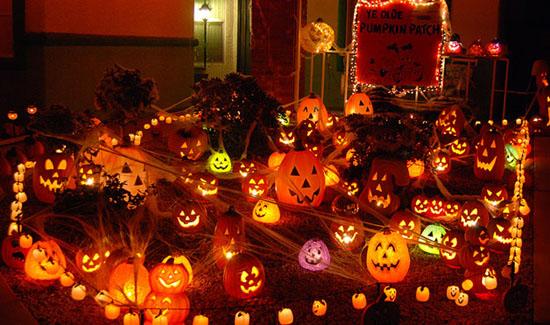 Lighted Pumpkins Halloween Decor