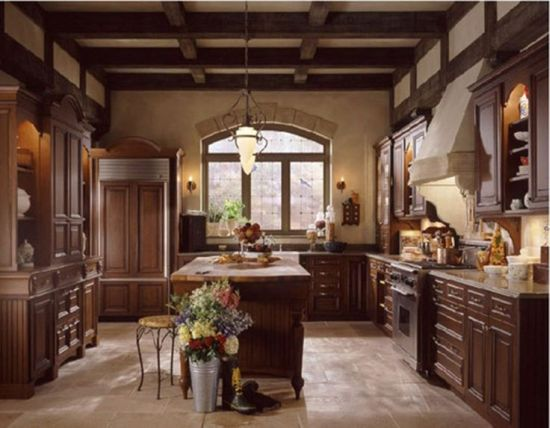 18 amazing tuscan kitchen ideas ultimate home ideas for Dark wood kitchen ideas