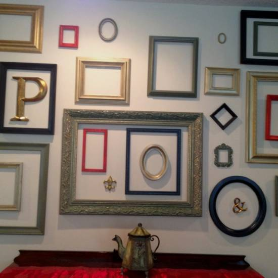 Empty Frames For Wall Decor : Use empty frames to decorate home ultimate ideas