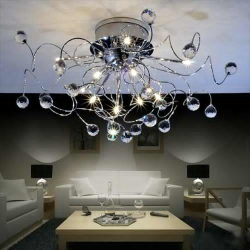 Trendy Chandeliers: 15 Tips To Select Chandeliers For Living Room