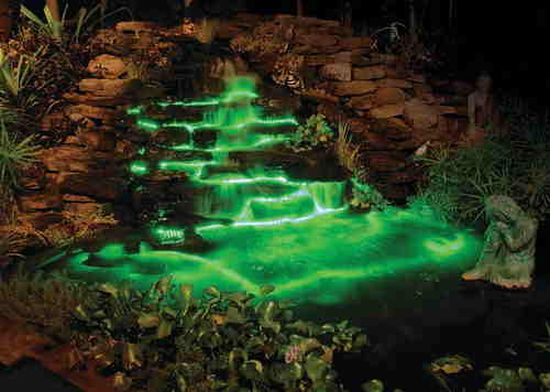 Lighted Garden Waterfall