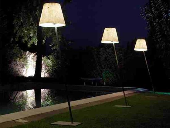 Torch Lamps by the Poolside