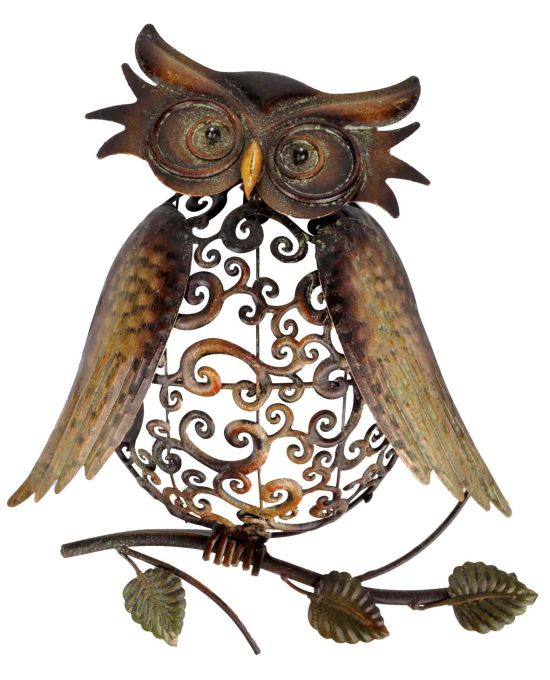 Amazing metal owl wall decoration. Decorating Ideas