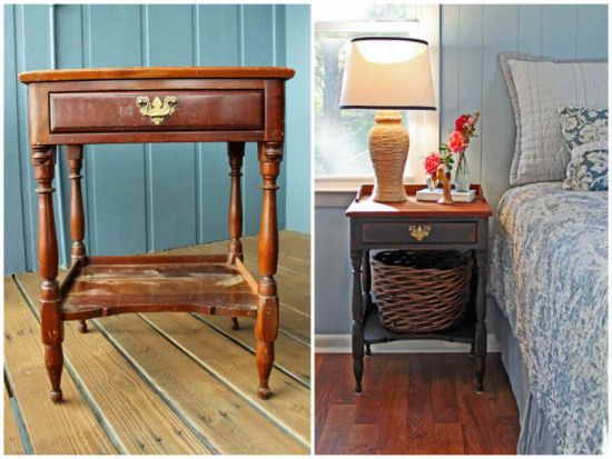 Beautiful DIY rustic nightstand - NO.1# THE MOST BEAUTIFUL DIY BEDROOM NIGHTSTAND IDEAS