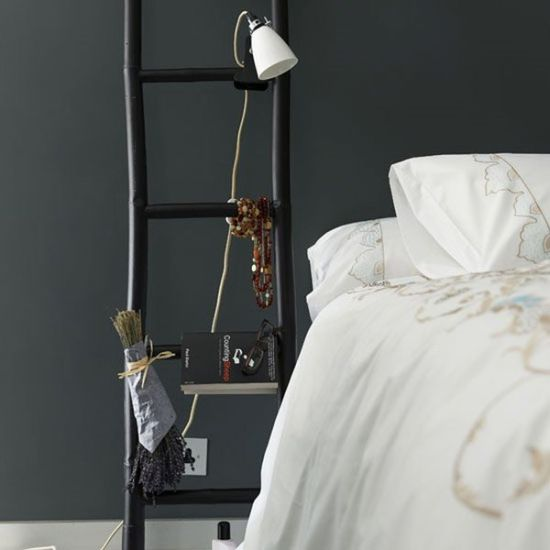 Creative DIY ladder nightstand idea - NO.1# THE MOST BEAUTIFUL DIY BEDROOM NIGHTSTAND IDEAS