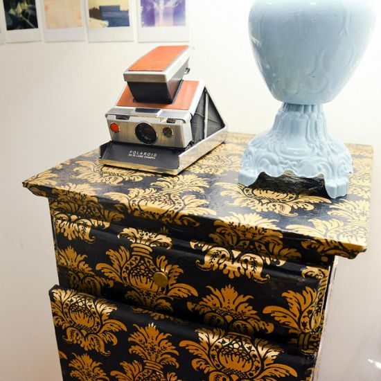 DIY Decoupage nightstand idea - NO.1# THE MOST BEAUTIFUL DIY BEDROOM NIGHTSTAND IDEAS